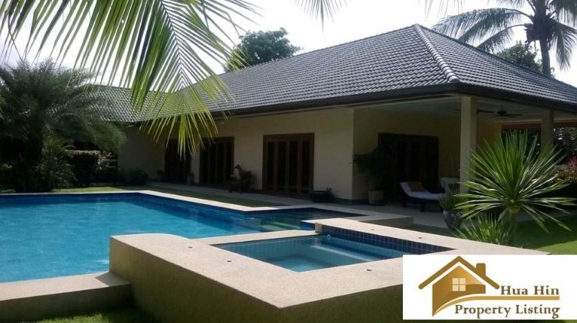 Luxury Pool Villa in a secured community for Sale Hua Hin