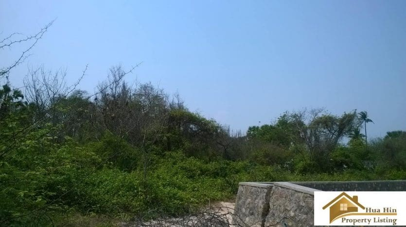 Absolute Beachfront Land For Sale In Cha Am – 5 Rai