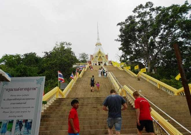 The Chopsticks hill temple lies at the end of a long flight of steps at the Chopsticks Hill