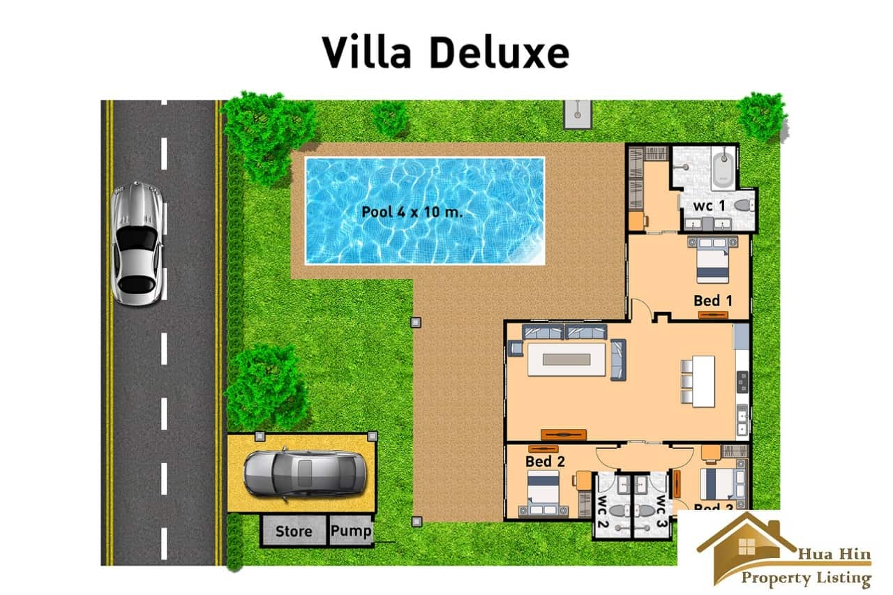 Villa Deluxe - Floor Plan