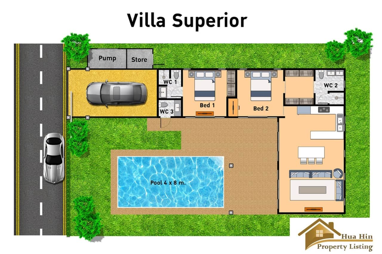 Villa Superior - Floor Plan