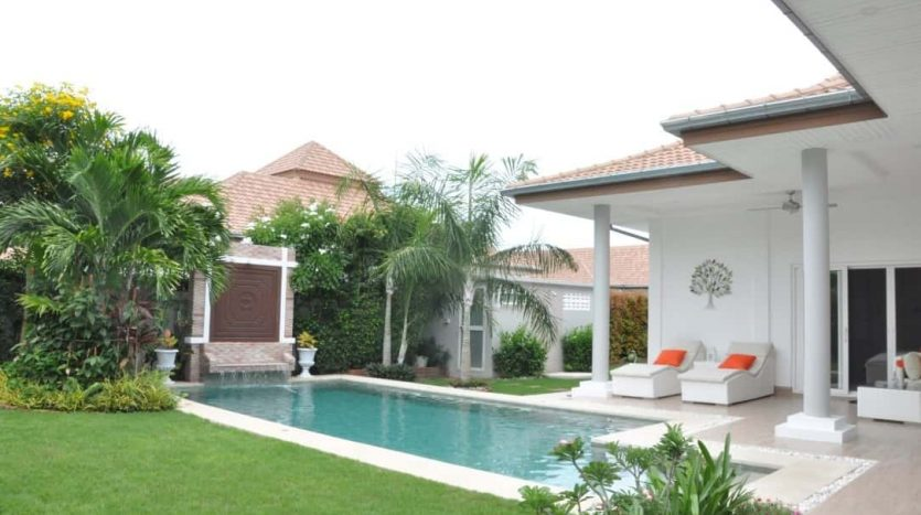 Stunning 3 Bed Resale Pool Villa In Secured Estate Hua Hin