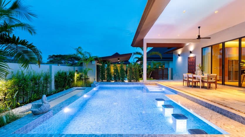 Panorama Black Mountain Modern Design Tropical Pool Villa For Sale Hua Hin